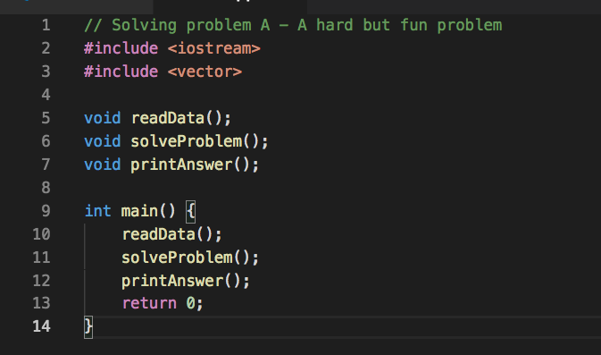 Solving problems writing codes...